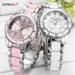 MyXL LONGBOMode Horloge Vrouwen Luxe Keramische En Lichtmetalen Armband Analoge Horloge Relogio Feminino Montre Relogio Klok