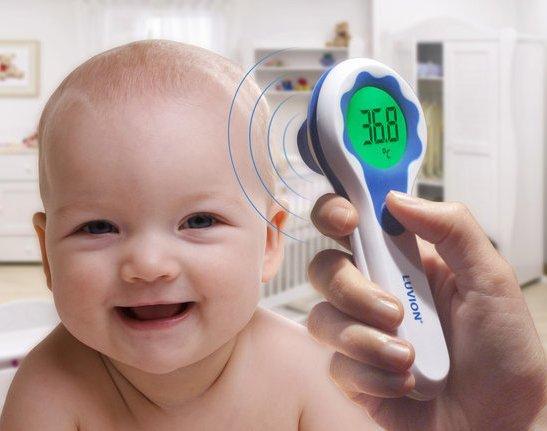 Infrarood thermometer voor de baby