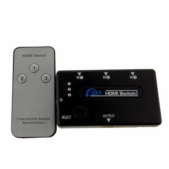 HDMI switch 3 op 1