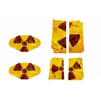 Sticker Radioactiviteit voor de Playstation 4