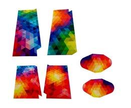 Sticker Kleurrijk Mozaïek voor de Playstation 4