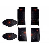 Sticker Zwart Hexagoon Patroon voor de Playstation 4