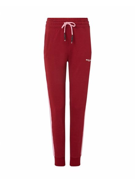 Ballin Amsterdam Ladies Bordeaux / Pink Striped Joggers