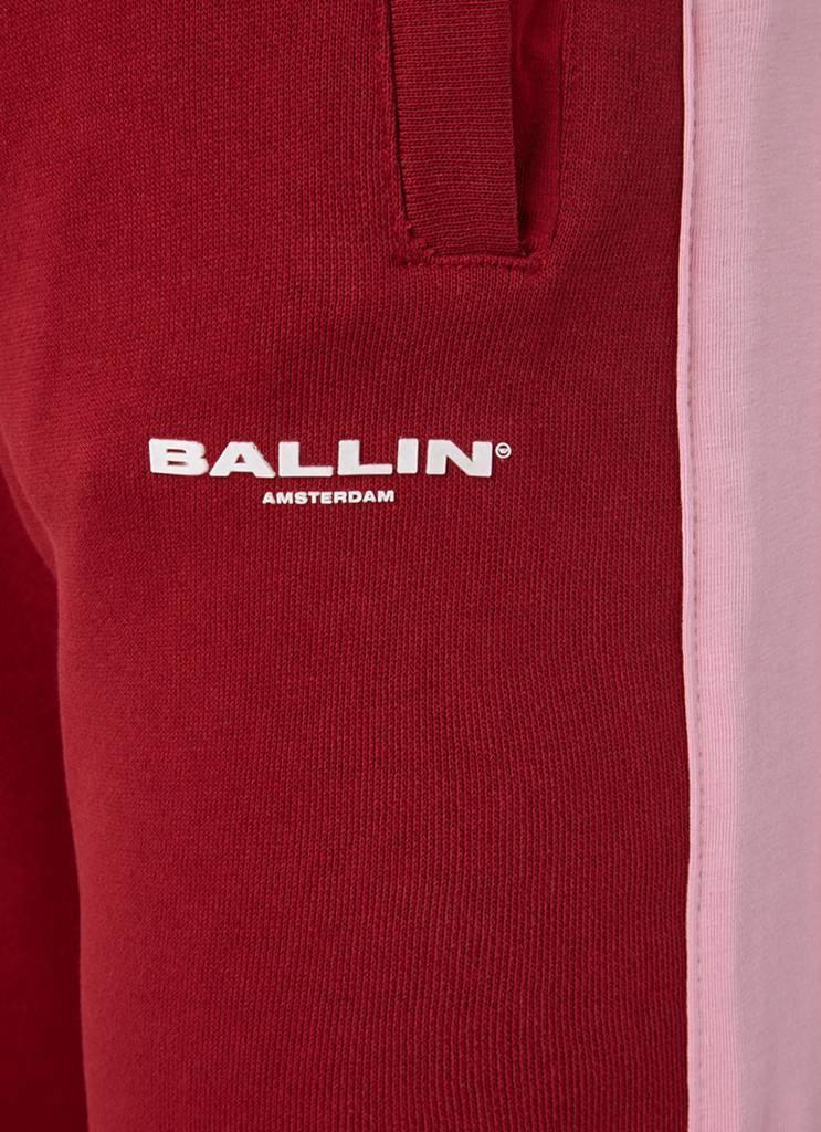 Ballin Amsterdam Damen Rot / Rosa Gestreifte Jogger