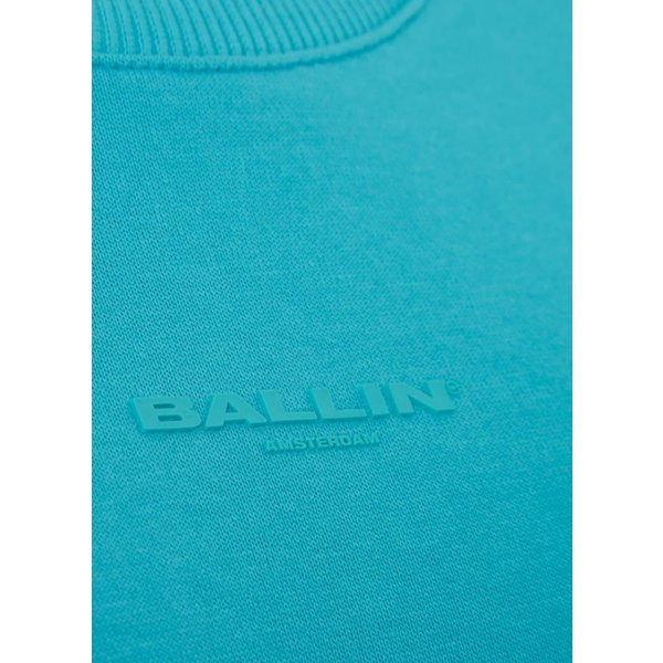 Ballin Amsterdam Ladies Tape Crewneck Turquoise