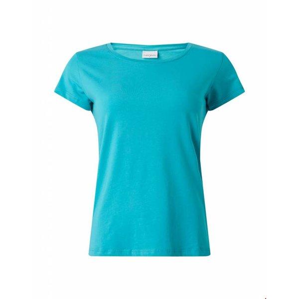 Ballin Amsterdam Dames Tape T-shirt Turqoise