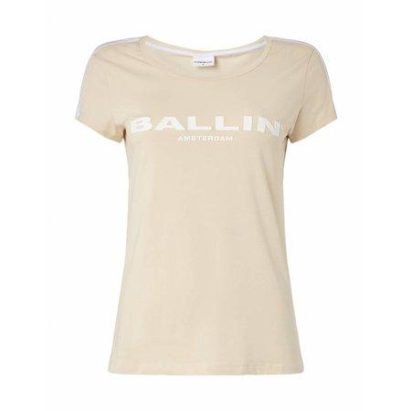 BALLIN Amsterdam Striped Damen T-Shirt Sand