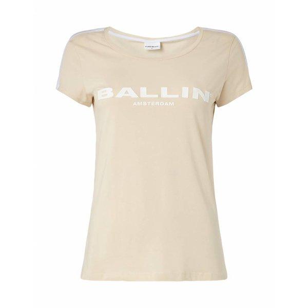 BALLIN Amsterdam  Dames Striped  T-shirt Zand