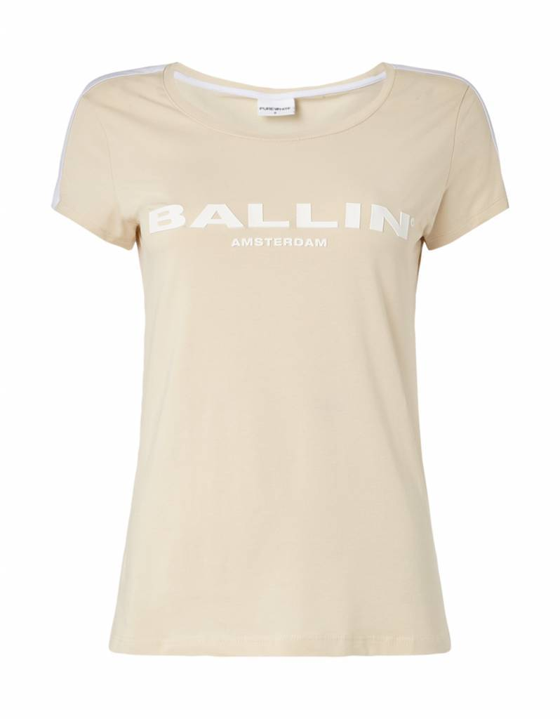 BALLIN Amsterdam  Dames Striped  T-shirt Sand