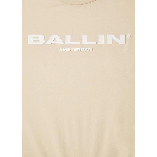 BALLIN Amsterdam Striped Womens T-shirt Sand