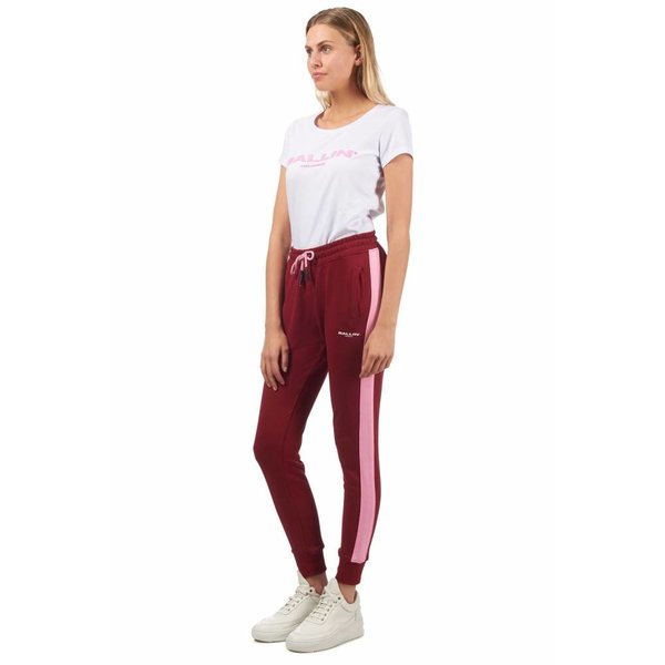 Ballin Amsterdam Ladies Red / Pink Striped Joggers