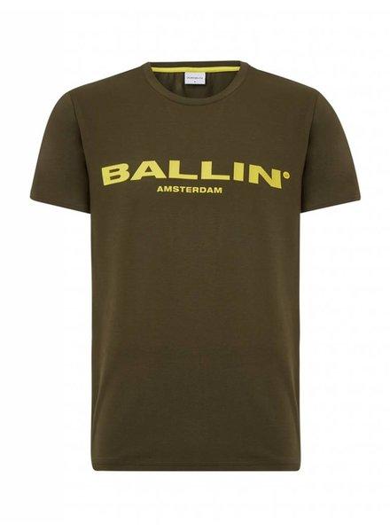 BALLIN Amsterdam T-shirt  Legergroen / Geel