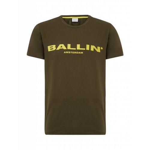 BALLIN Amsterdam T-Shirt Armee-Grün / Gelb