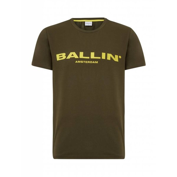 BALLIN Amsterdam T-shirt Army Green / Yellow
