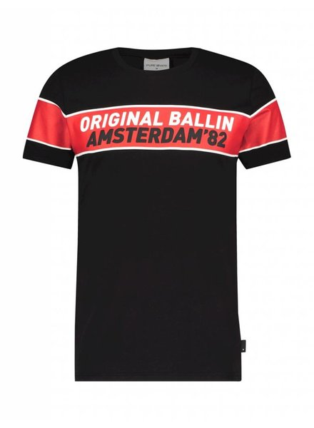 BALLIN Amsterdam T-shirt Zwart / Rood