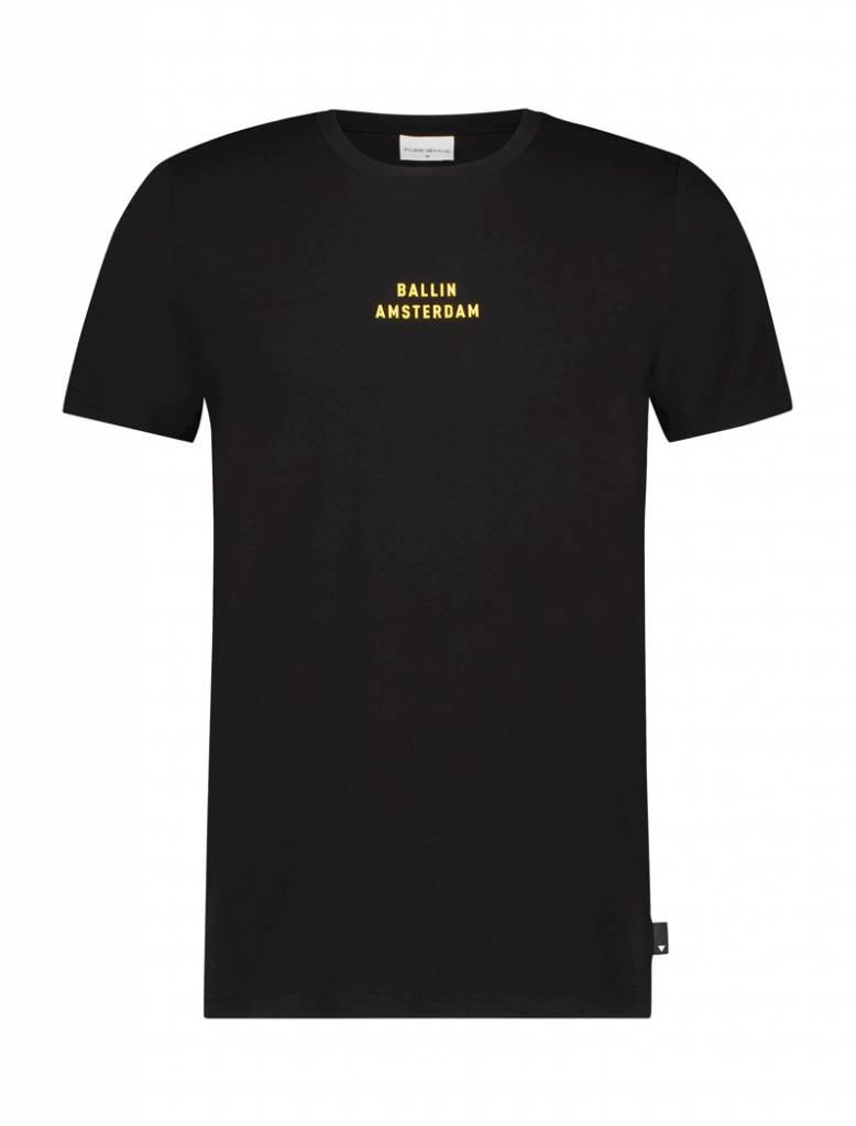 Ballin Amsterdam T-shirt 82 Zwart / Geel