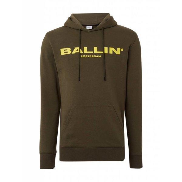 BALLIN Amsterdam Hoodie Army Green / Yellow