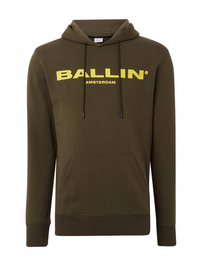 BALLIN Amsterdam Hoodie Army Green / Yellow