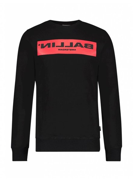 BALLIN Amsterdam  Reflection Sweater Zwart / Rood