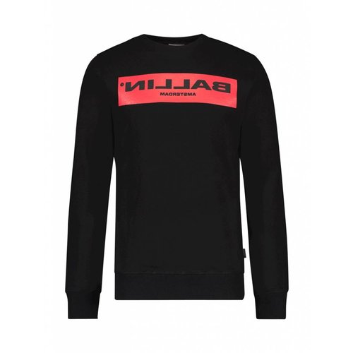 BALLIN Amsterdam  Reflection Sweater Zwart / Rood