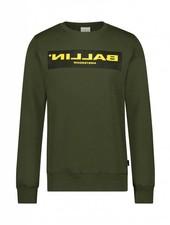 BALLIN Amsterdam Reflection Sweater Army Green / Yellow