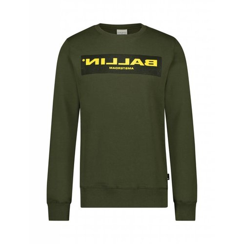 BALLIN Amsterdam Reflection Sweater Army Grün / Gelb