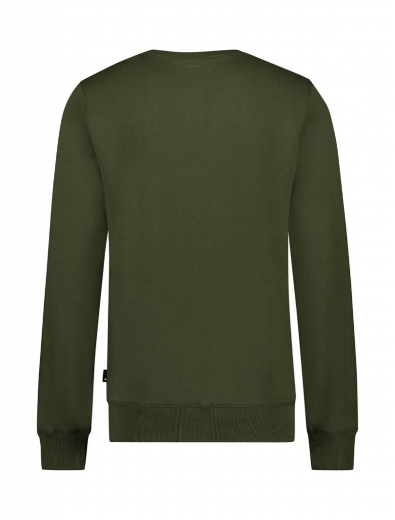BALLIN Amsterdam Reflection Sweater Army Grün / Gelb
