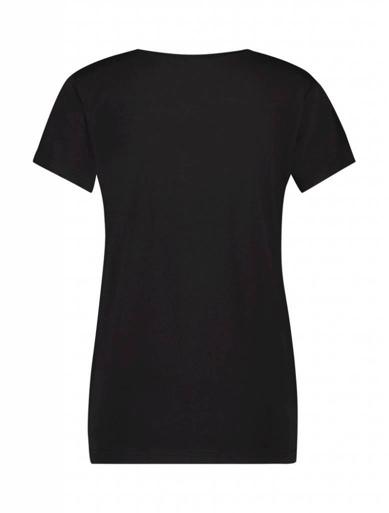 BALLIN Amsterdam Damen College T-Shirt Schwarz