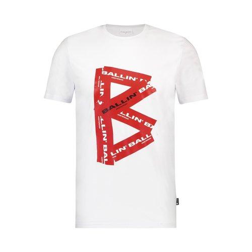 Ballin Amsterdam B T-Shirt Weiß SS19