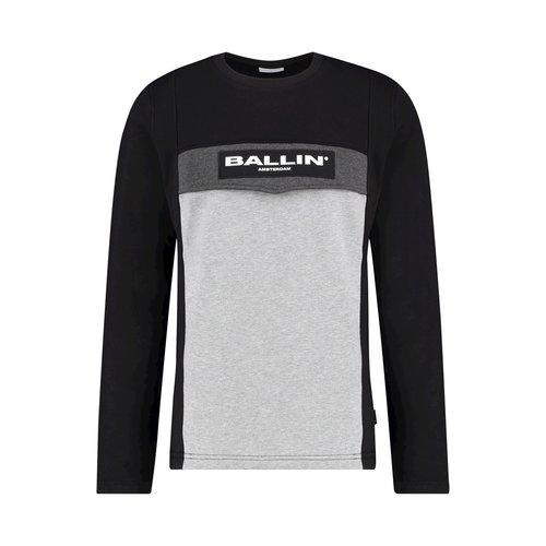 Ballin Amsterdam Anorak Sweater SS19 Farbblock Schwarz