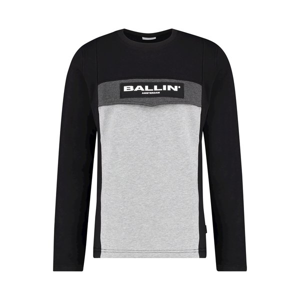 Ballin Amsterdam Anorak Sweater  SS19 Colourblock Zwart