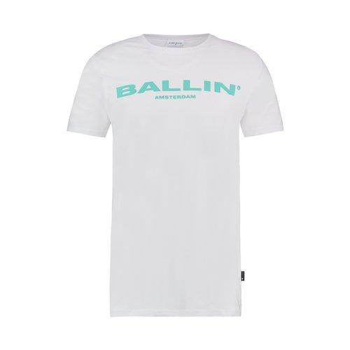 BALLIN Amsterdam T-shirt Wit / Lichtblauw
