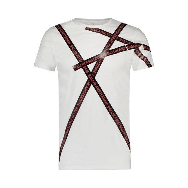 Ballin Amsterdam T-shirt Wit / Rood SS19