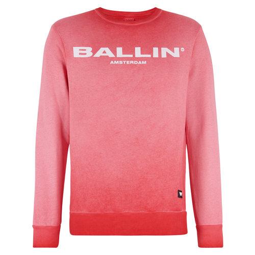 Ballin Amsterdam Stonewashed Sweater Rood