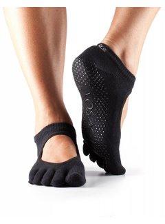 Toe Sox Toesox Bellarina Grip Full Toe Black
