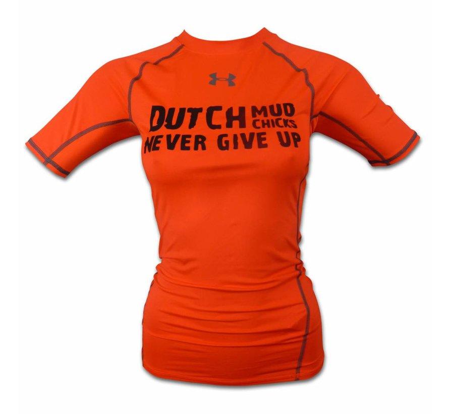 Dutch Mud Chicks Teamshirt Under Armour Compression Orange