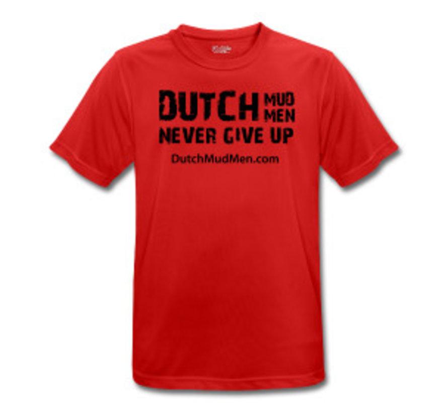 Dutch Mud Men-Schädel Sportshirt rot