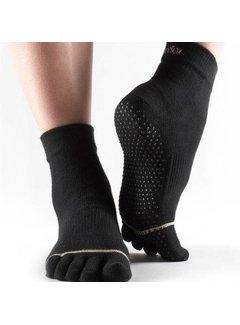 Toe Sox Toesox Ankle Grip Full Toe Zwart Teensokken
