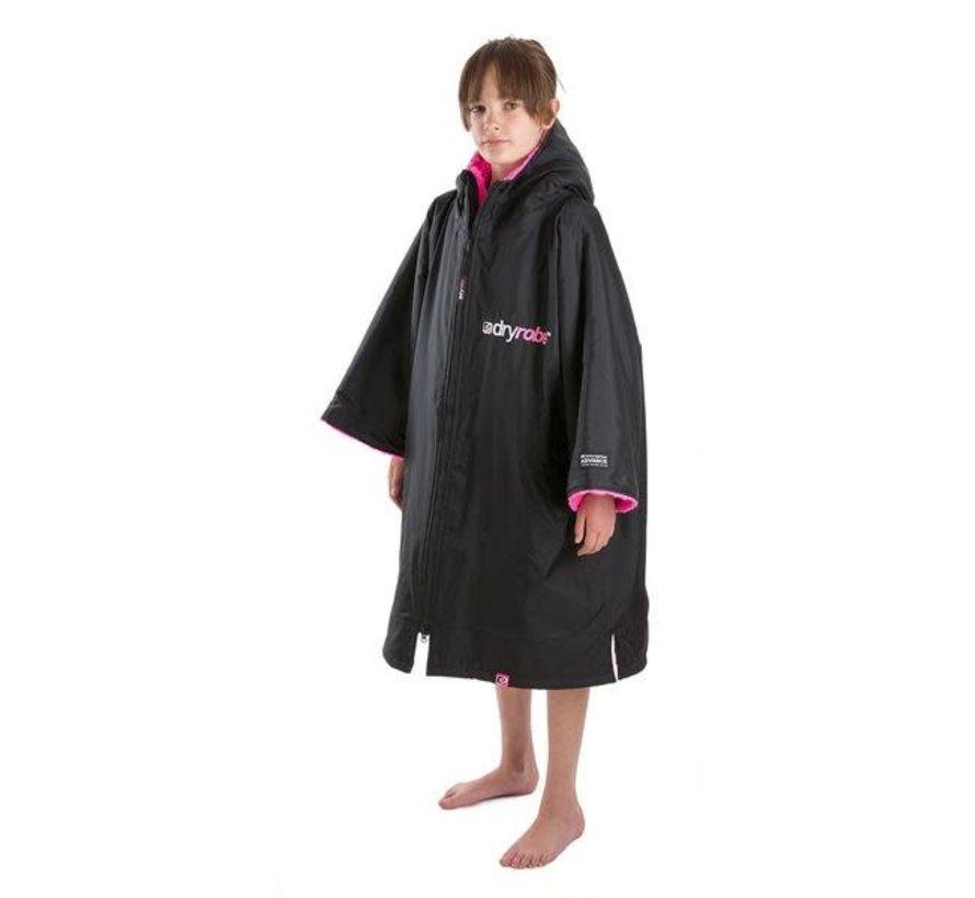 Dryrobe Kurzarm Schwarz-Pink