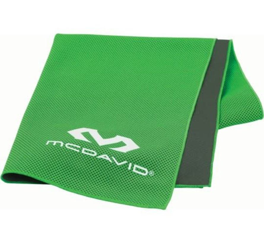 McDavid uCool Ultra Cooling Towel Neongroen