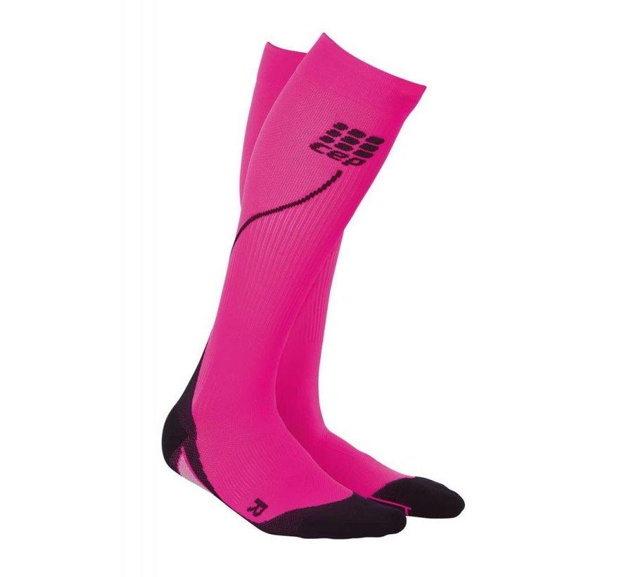 CEP pro + run socks 2.0, pink / black, women