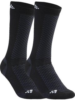 Craft Craft Warm Mid 2-Pack Socken Schwarz / Weiß