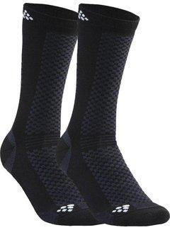 Craft Craft Warm Mid 2-pak Sokken Zwart / Wit