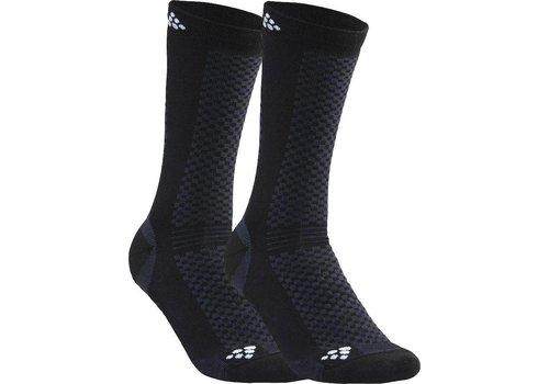 Craft Warm Mid 2-pack Socks Black / White