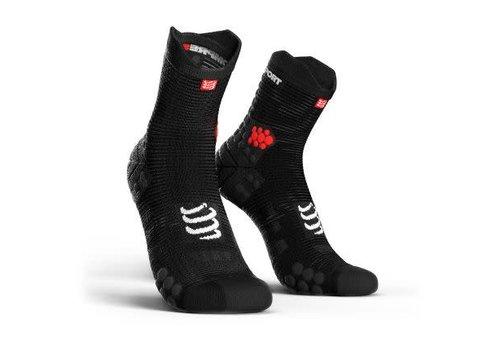 Compressport Racing Socken V3.0 Run Hi SMart Schwarz