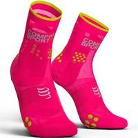 Compressport Racing Socken V3.0 Run Hi Fluo Pink