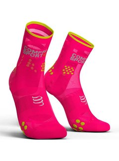 Compressport Compressport Racing Socken V3.0 Run Hi Fluo Pink
