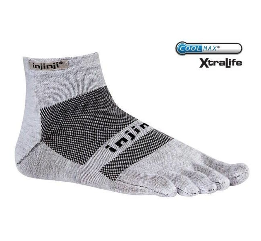 Injinji Run Lightweight MC Xtralife Gray