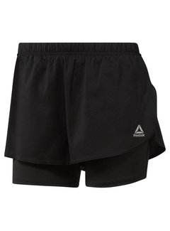 Reebok Reebok Running 2-in-1 Short Dames Zwart