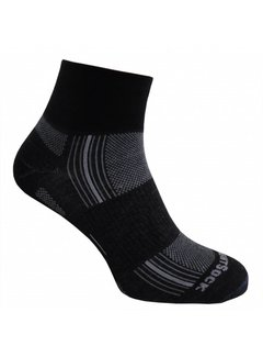 Wrightsock Wrightsock Stride Quarter Black Midweight